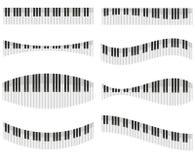 设计的不同的表单的钢琴关键字 免版税库存照片