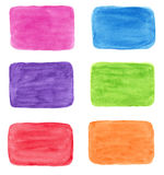 设计的五颜六色的水彩背景 库存照片