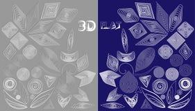 设计的元素在quilling的样式3D和平 库存图片