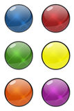 设计的光滑的按钮 图库摄影