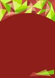 设计的多角形绿色背景 免版税图库摄影