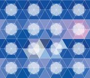 设计的抽象几何无缝的样式 库存照片