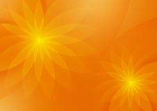 设计的抽象花卉橙色背景 向量例证