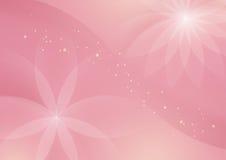 设计的抽象花卉浅粉红色的背景 皇族释放例证