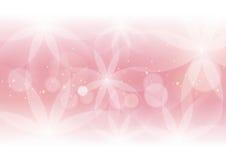 设计的抽象花卉浅粉红色的背景 向量例证