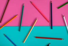 设计的抽象颜色铅笔大模型 库存照片