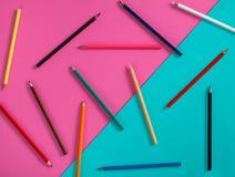 设计的抽象颜色铅笔大模型 免版税图库摄影