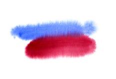 设计的抽象水彩形状 皇族释放例证