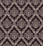 设计的无缝的维多利亚女王时代的墙纸 免版税图库摄影