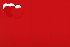 设计的毛毡背景对与心脏的情人节 Valen 免版税库存图片