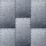 设计的金属纹理钢背景 库存照片
