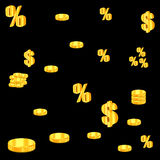 设计的金黄硬币例证 免版税图库摄影