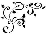 设计的2黑花卉元素 免版税库存照片