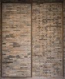 设计砖修造了门上海瓷 免版税库存图片