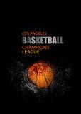 设计篮球的一张海报 免版税库存照片
