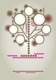 设计系列构成结构树向量 库存例证