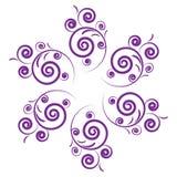 设计紫色 库存例证