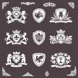 设计纹章学元素 皇族释放例证