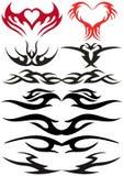 设计纹身花刺 库存照片