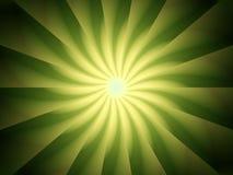设计绿灯发出光线螺旋 库存图片