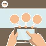 设计网上商店的Infographics 片剂和产品selecti 向量例证