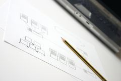 设计网络 免版税图库摄影