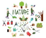 设计自然的元素春天和夏季的 免版税库存照片