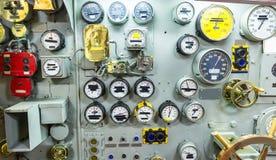 设计航空母舰内部  库存图片