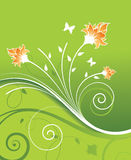 设计花卉例证向量 免版税库存照片