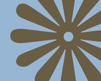 设计花卉图象减速火箭 免版税库存照片
