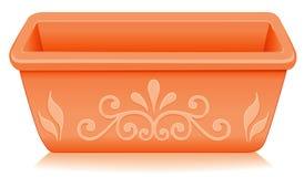 设计花卉大农场主赤土陶器 向量例证