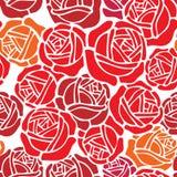 设计花卉模式玫瑰色墙纸 向量例证