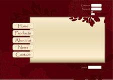 设计花卉站点向量万维网 免版税库存照片
