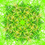 设计花卉绿色花圈 向量例证
