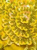 设计花卉闪光金属片 图库摄影