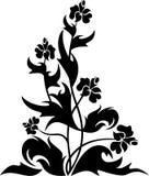 设计花卉simbol纹身花刺 免版税图库摄影