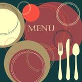 设计菜单餐馆 图库摄影