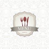 设计菜单餐馆 免版税库存照片