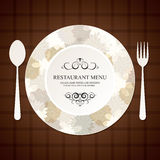 设计菜单餐馆 库存照片