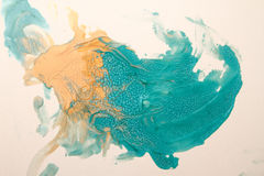 设计蓝色和黄色纹理,背景 库存照片
