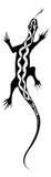设计蜥蜴纹身花刺 图库摄影