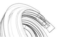 设计螺旋元素 向量 库存例证