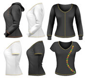 设计衬衣t模板妇女 库存例证