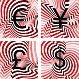 设计被设置的货币象。欧元,日元,磅, dolla 免版税图库摄影
