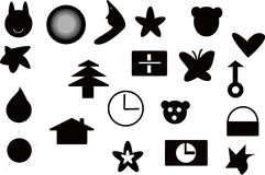 设计要素徽标 库存照片