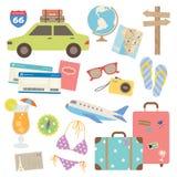 设计要素旅行 库存例证