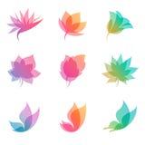 设计要素本质柔和的淡色彩向量 免版税库存图片