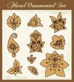 设计要素花卉装饰物 库存例证
