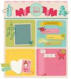 设计要素-女婴 库存例证