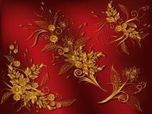 设计要素florals 库存例证